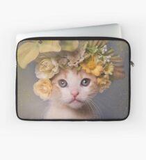 Flower Power, Bull the Kitten Laptop Sleeve
