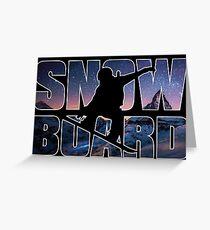 Snowboard Black Greeting Card