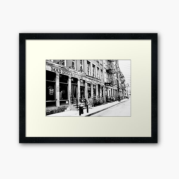Mad Dog and Beans, Financial District, New York City Framed Art Print