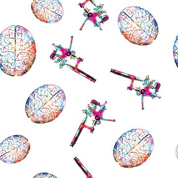 Brains and Microscopes - Colorful pattern by gifrancis