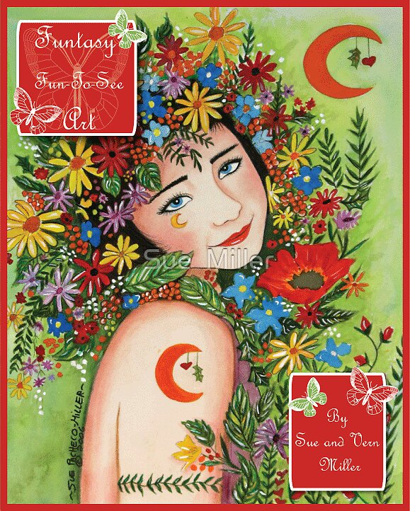 FUNTASY(TM) ART & POETRY BOOK By Sue & vern Miller by Sue  Miller