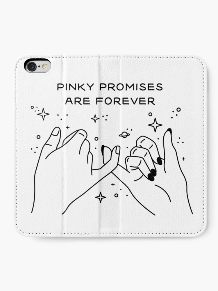 Vista alternativa de Fundas tarjetero para iPhone Pinky Promises are Forever
