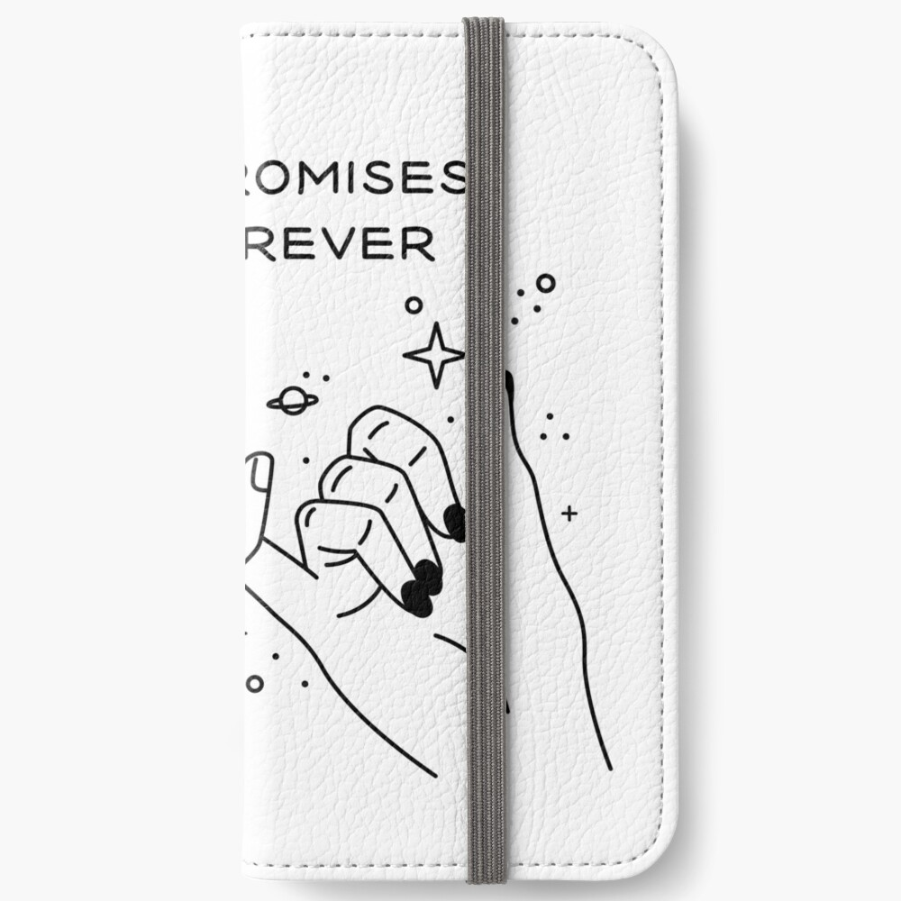 Pinky Promises are Forever Fundas tarjetero para iPhone