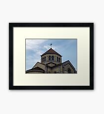 Architectural detail of Christian Catholic House of Worship.  Framed Print