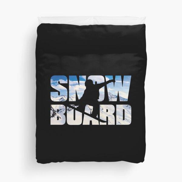 Snowboard Duvet Cover