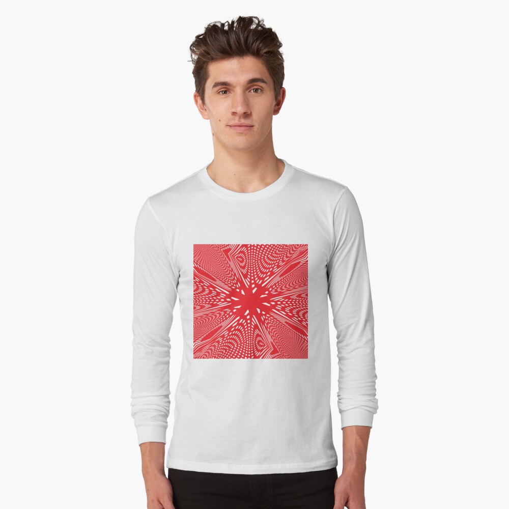 Art #Art #abstract #pattern #design #blue #fractal #wallpaper #digital #graphic #texture #green #art #backdrop #pink #light #red #flower #decorative #star #purple #white #color #psychedelic #geom Long Sleeve T-Shirt