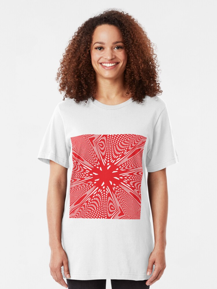 Alternate view of Art #Art #abstract #pattern #design #blue #fractal #wallpaper #digital #graphic #texture #green #art #backdrop #pink #light #red #flower #decorative #star #purple #white #color #psychedelic #geom Slim Fit T-Shirt
