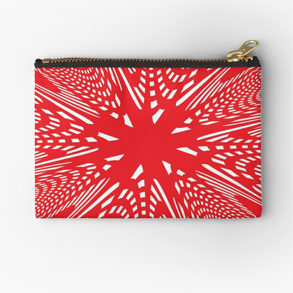 Art #Art #abstract #pattern #design #blue #fractal #wallpaper #digital #graphic #texture #green #art #backdrop #pink #light #red #flower #decorative #star #purple #white #color #psychedelic #geom Zipper Pouch