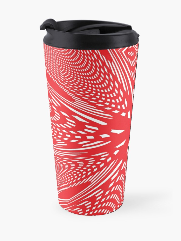 Alternate view of Art #Art #abstract #pattern #design #blue #fractal #wallpaper #digital #graphic #texture #green #art #backdrop #pink #light #red #flower #decorative #star #purple #white #color #psychedelic #geom Travel Mug