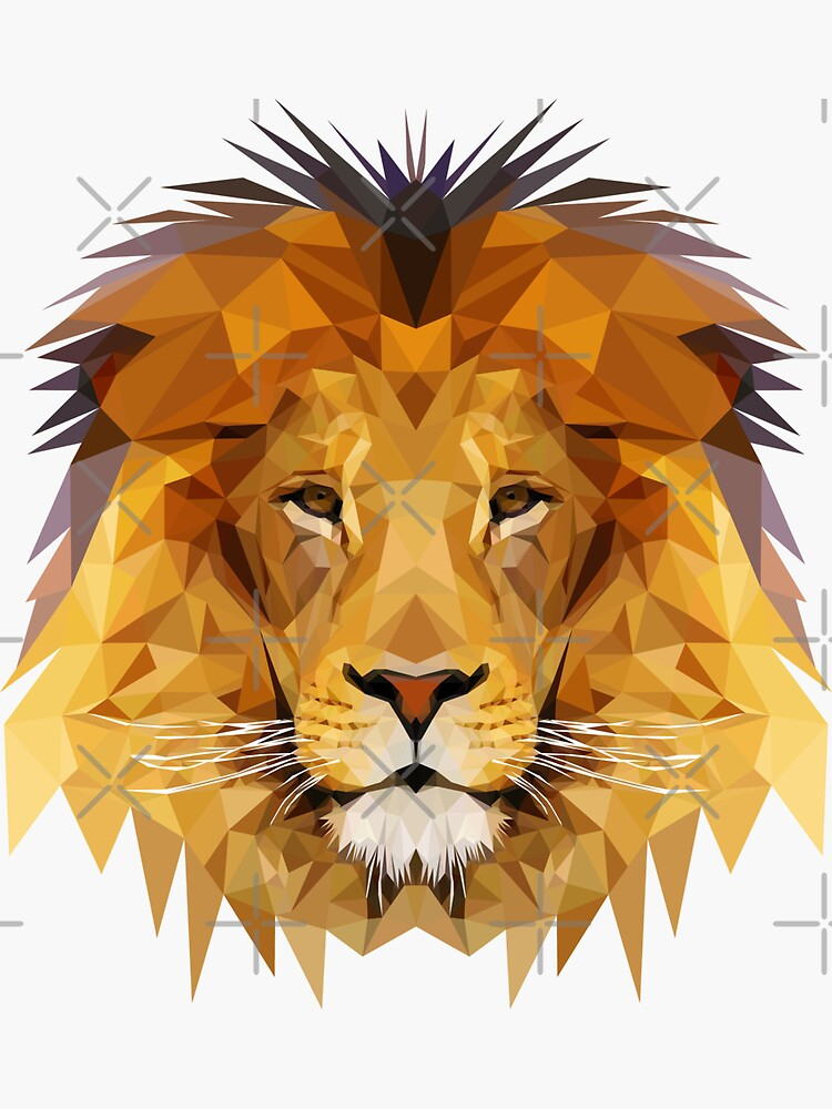 Löwe niedrige Polykunst von awesomedsign