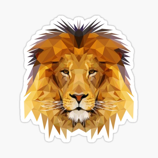 Lion low poly 2d art Sticker