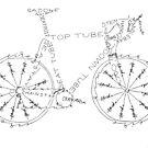 Fahrrad-Anatomie von KBLettering