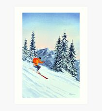 Skiing - The Clear Leader Art Print
