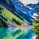 Tranquil Waters - Lake Louise in Banff, Alberta Canada #photography #art #landscape #lakelouise #banff #alberta #canada by Jacqueline Cooper