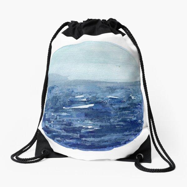 Around the Ocean Drawstring Bag