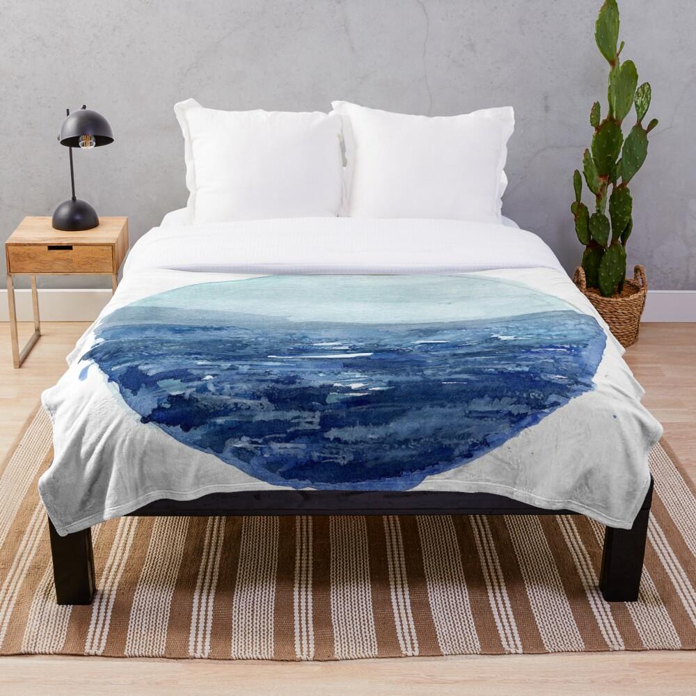 Around the Ocean Throw Blanket