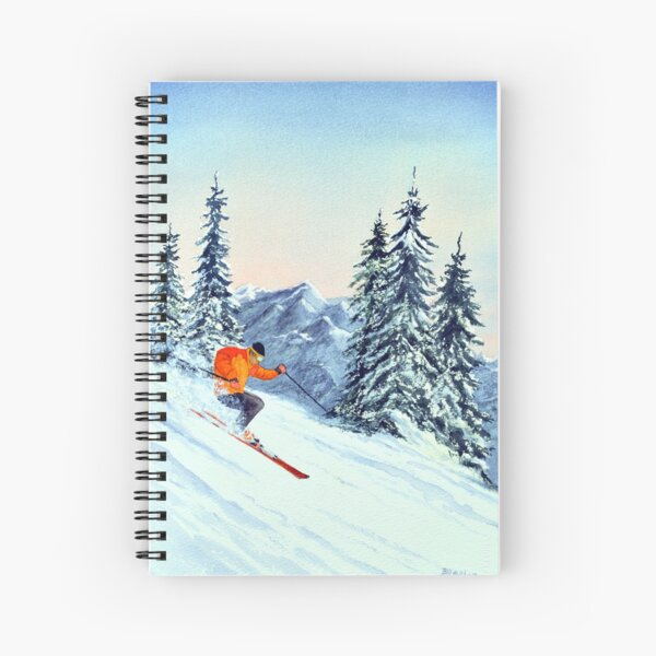 Skiing - The Clear Leader Spiral Notebook