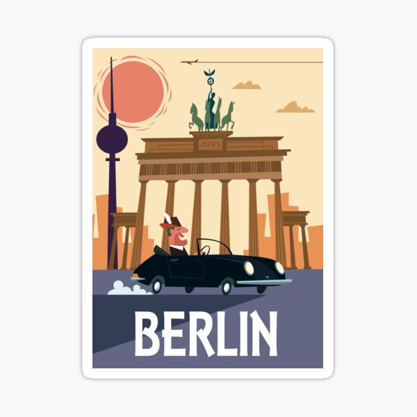 Berlin Poster Sticker