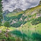 Hiking Trail Along Seealpsee Switzerland by Susan Dost