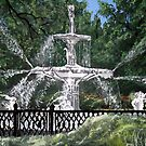 forsyth fountain acrylic painting by derekmccrea