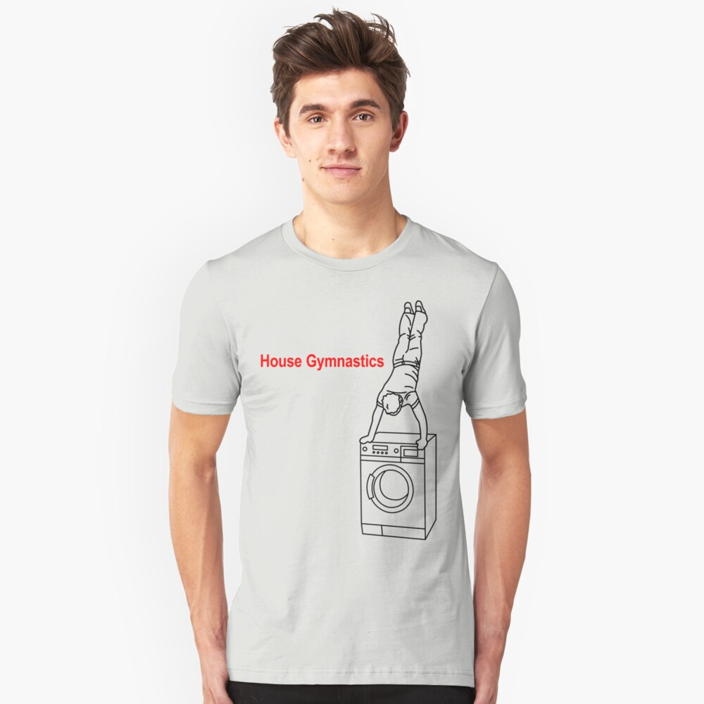 Washing Machine Handstand T-shirt Unisex T-Shirt Front