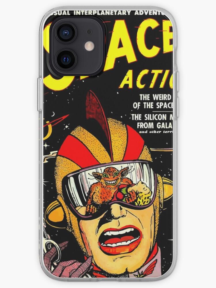Retro Comic Cover - SPACE ACTION - Couverture de SF Vintage   Coque iPhone