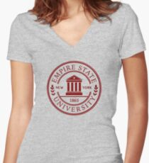 Empire State University Women's Fitted V-Neck T-Shirt