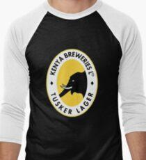 Tusker Lager Logo Men's Baseball ¾ T-Shirt