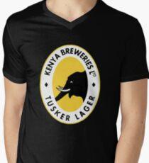 Tusker Lager Logo Men's V-Neck T-Shirt