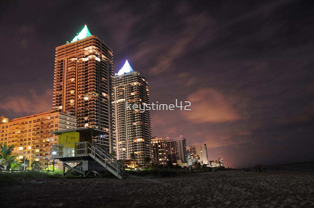 Miami Beach at night by keystime42