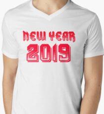 NEW YEAR 2019 Men's V-Neck T-Shirt