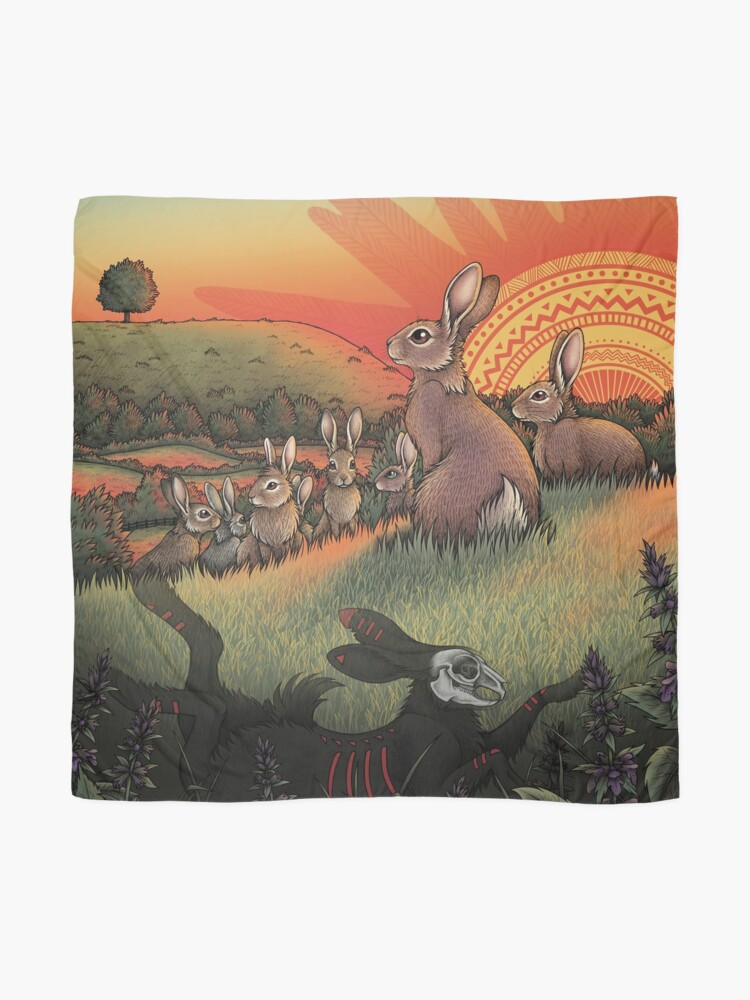 Alternate view of Watership Down Scarf