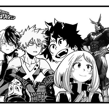 My Hero Academia - Black and White Poster by Lilzer99