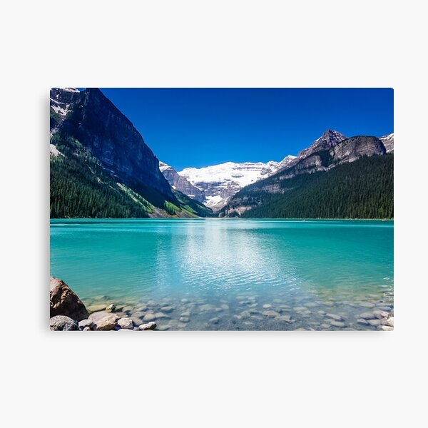 Tranquil Waters V - Lake Louise in Banff, Alberta Canada #photography #art #landscape #lakelouise #banff #alberta #canada Canvas Print