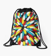 Primary Blast by MelanieFarris Drawstring Bag