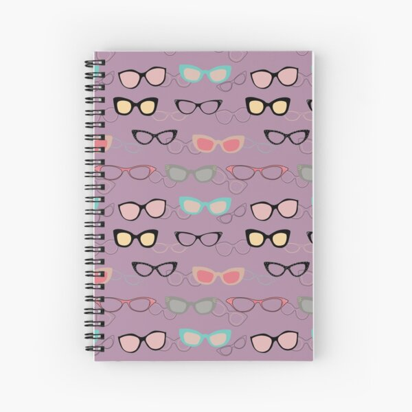 1950's Specs on Lilac Spiral Notebook