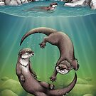 Asian Small-Clawed Otters by Lyndsey Green