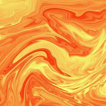 Orange Marble by CreatedProto