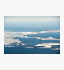 Riverbeds and Saltlakes  Photographic Print