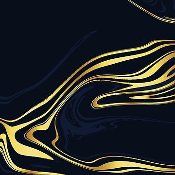 Blue And Gold Marble by CreatedProto