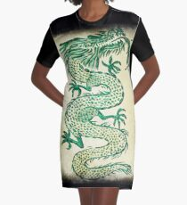 Green Dragon  Graphic T-Shirt Dress