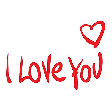 I love you  by Fawad4real