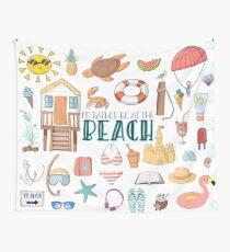 Ich wäre lieber am Strand Wandbehang