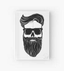 Ray's black bearded skull  Hardcover Journal