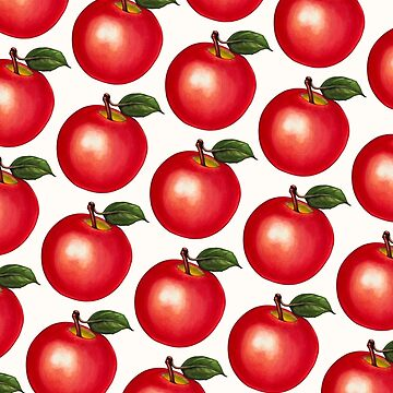 Apple Pattern - White by KellyGilleran