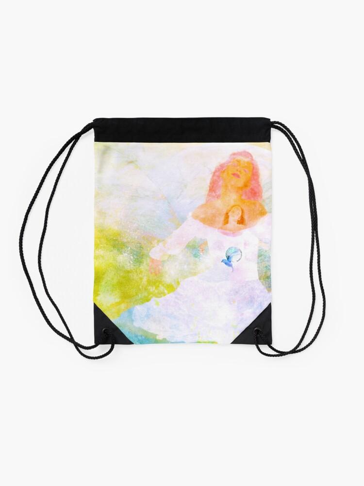Alternate view of Shh, I got a Secret Drawstring Bag