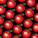 Apple Pattern - Black by Kelly  Gilleran