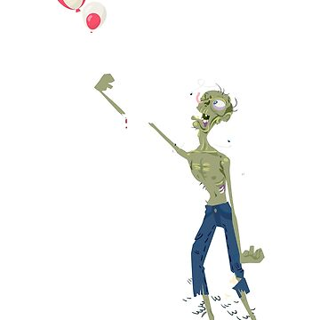 Sad Zombie Balloon Takes Arm by icedrum