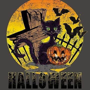 Halloween black cat by Dubbra