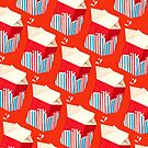 Milk Pattern - Red by Kelly  Gilleran